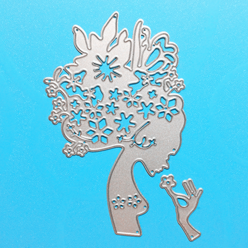 YLCD647 Flower Fairy Metal Cut Dies For Scrapbooking Stencils DIY Album Kort Dekoration Prægning Folder Die Cuts Templat