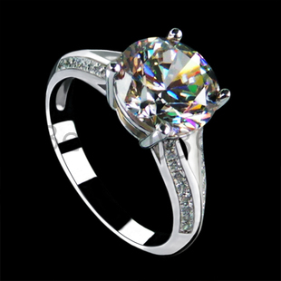3 carat sona simulated Diamond wedding engagement ring band for women 925 sterling silver promise ring set (BB)