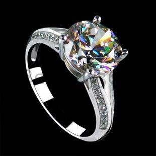 3 carats Sona simulé Diamant de fiançailles de mariage 925 anneau bande pour les femmes en argent Sterling promesse S925 anneau ensemble (BB)