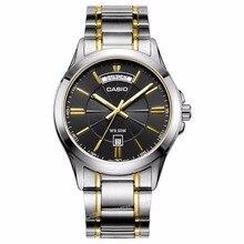 Casio Watch Люксовый Бренд Мужчины Наручные Часы MTP-1381G-1A Мода & Casual Водонепроницаемый Стальной браслет Дата День Часы