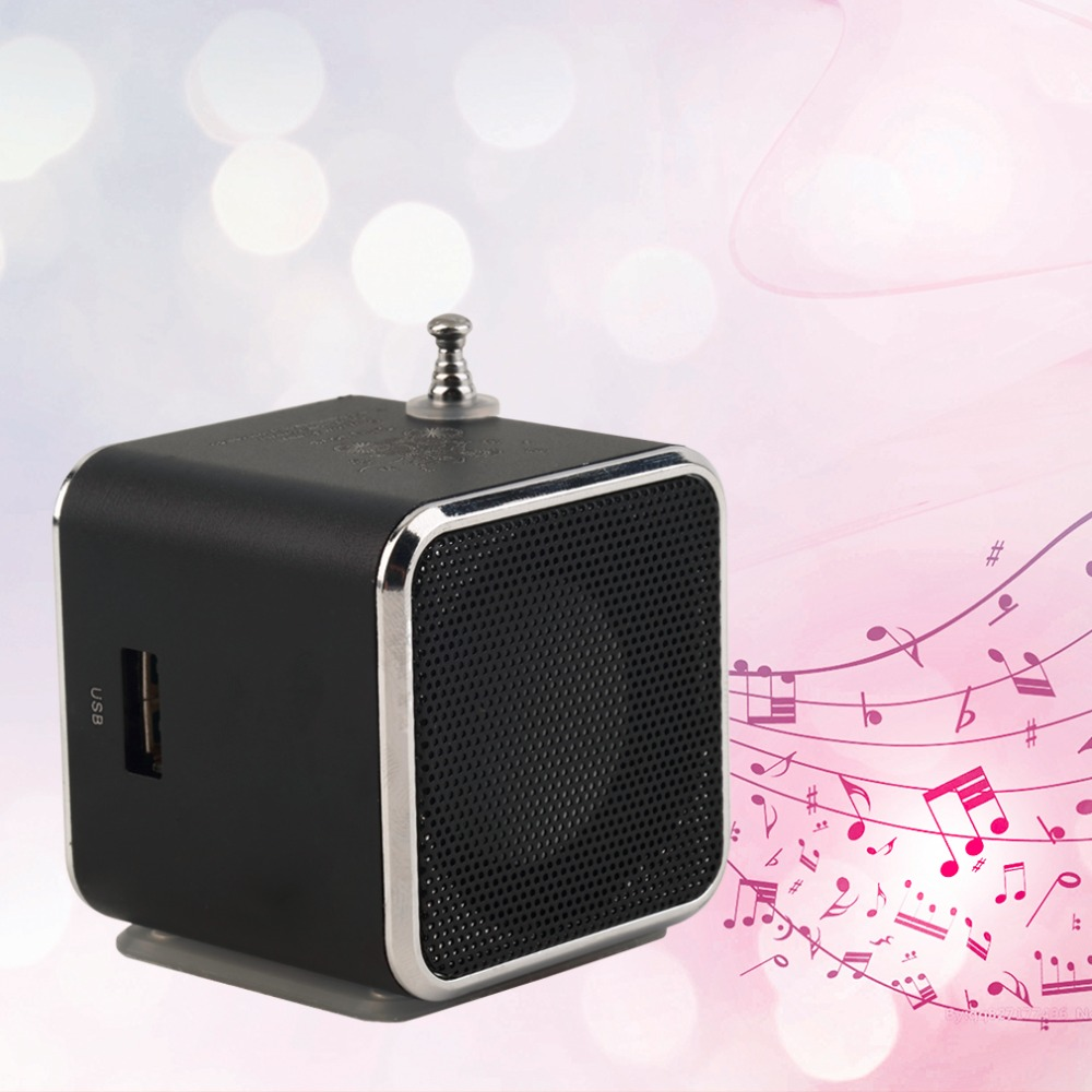 New Portable Micro TF font b USB b font Mini Speaker Music Player Portable FM Radio