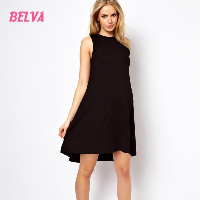 Belva Black Sleeveless Black Short Dress For Pregnant Elegant