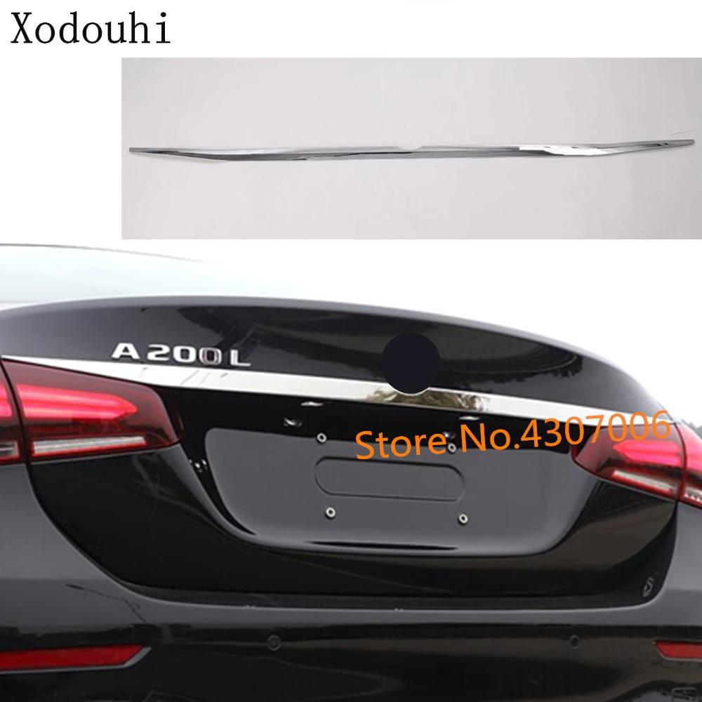 Bâche de voiture détecteur coffre arrière porte hayon cadre plaque garniture lampe 2 pièces pour Mercedes Benz A classe W177 A180 A200 A250 2019 2020