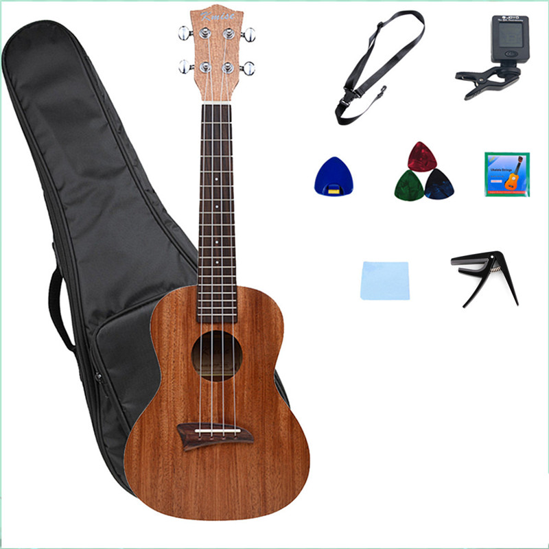 Kmise Ukulele Concert Ukelele 23 Inch Uke Hawaiian Hawaii Guitar Laminated Mahogany with Bag soprano concert tenor ukulele 21 23 26 inch hawaiian mini guitar 4 strings ukelele guitarra handcraft wood mahogany musical uke