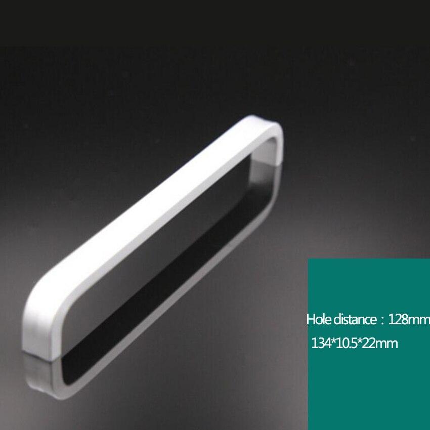 Дверные ручки простые выдвижные ящики для шкафа кухонные ручки и ручки для мебели ручки и ручки - Цвет: 128mm