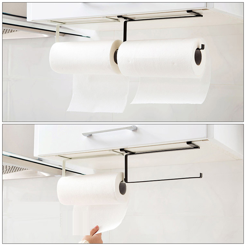 Creative Tissue Paper Holder Rack Hanging Bathroom Toilet Roll Paper Holder Towel Rack Kitchen Stand Towel Holder Storage Shelf
