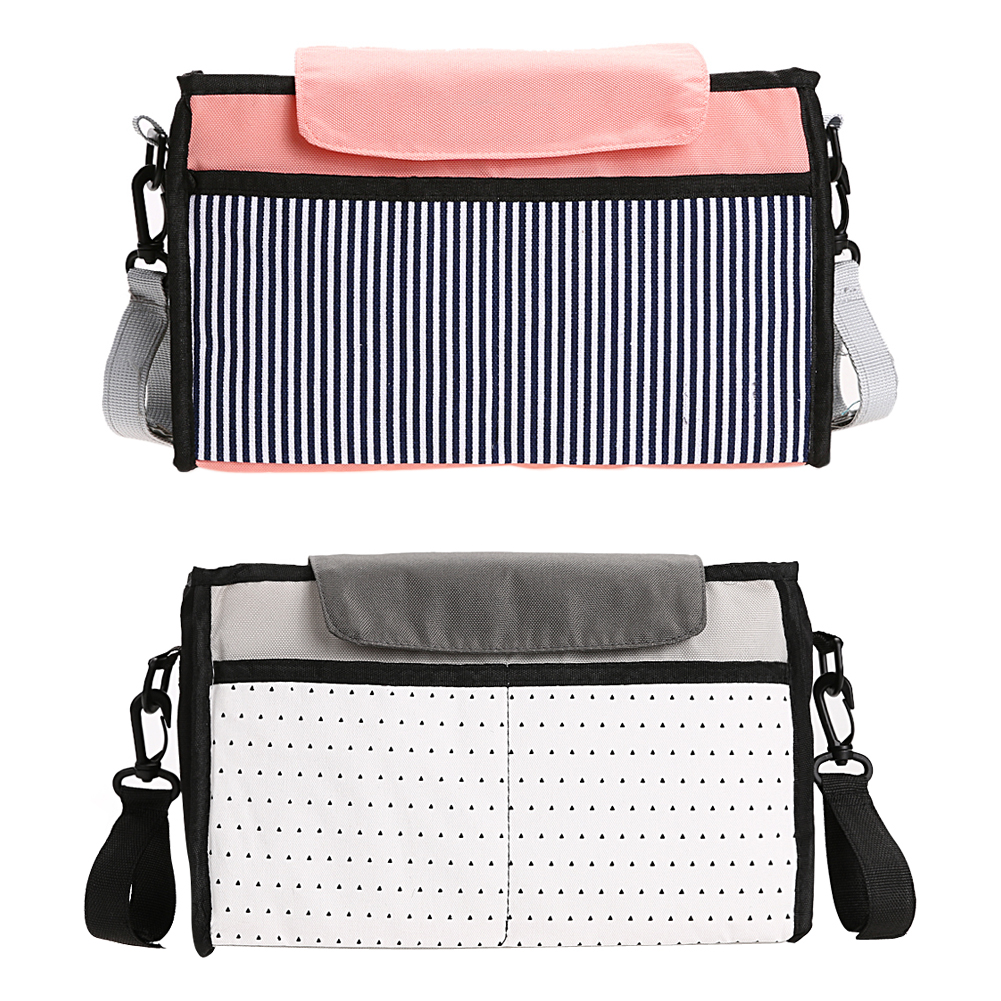 Kapasiti Besar Bayi Stroller Gantung Beg Multi-fungsi Lampin Nappy Susu Bottle Storage Bag Trolley Mummy Aksesori Beg