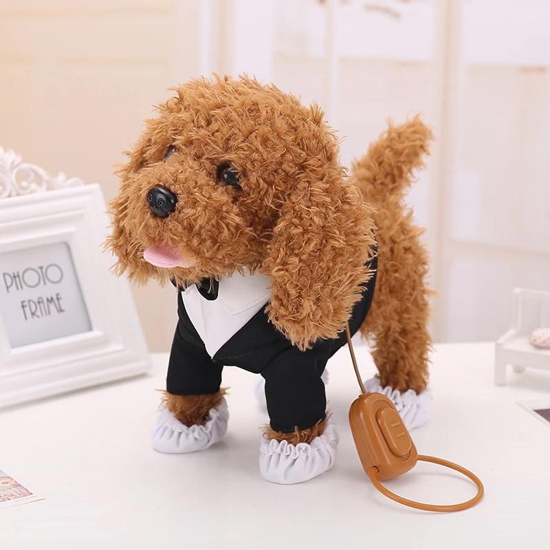 Dzieci urodziny prezenty figurka elektroniczne zwierzęta Robot zabawki dla psów kora stoiska spacer Teddy psy Brinquedos pluszowe dla psów w Elektroniczne zwierzęta domowe od Zabawki i hobby na AliExpress - 11.11_Double 11Singles' Day 1