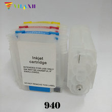 For HP 940 Refillable Ink Cartridge for HP 940 xl for HP Officejet Pro 8500 All-in-One 8000 8500A Printer 940xl 940 hp940 refillable ink cartridge for hp officejet pro 8000 8500 8500a for hp premium 4 color dye ink 400ml