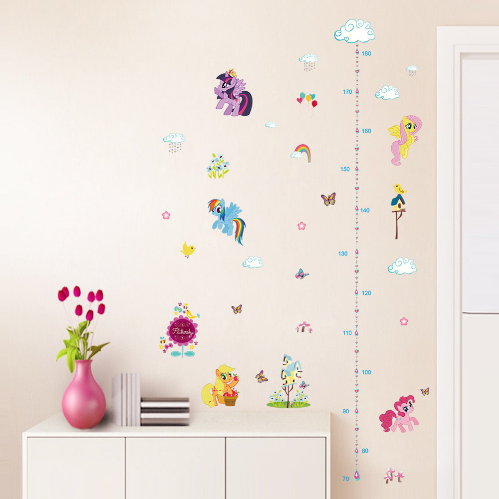 Popular cartoon horse height measure home decal wall sticker kids popular cartoon horse height measure home decal wall sticker kids room baby girl gift growth chart butterfly beautiful mural in wall stickers from home geenschuldenfo Choice Image
