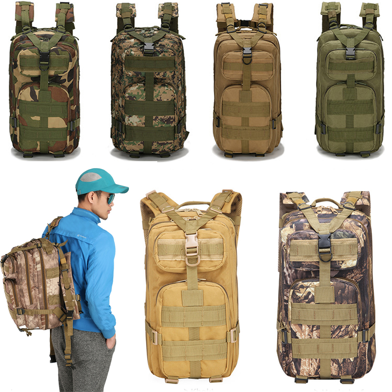 30L Military Tactical Assault Pack Backpack Army 3D Waterproof Bug Out Bag Small Rucksack For Outdoor Hiking Camping Outdoor Bag