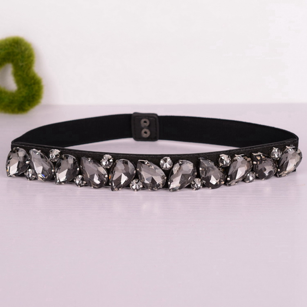Luxury Crystal Elastic Waist Belt Corset For Women Stretch Waistband Cinch Strap Lady Girls High Waist Belt Cinture Elastiche