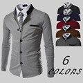 Chaqueta Americana Hombre Doudoune Homme Blazer Men Cotton Regular Winter 2016 New Hot Fashion Collar Knitted Jacket Retro Suit
