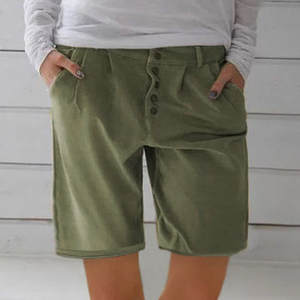 WOMAIL Shorts Pockets Linen Cool Cotton Casual Fashion And Solid W30604 New-Product Comfortable
