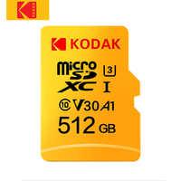 Kodak Micro carte SD classe 10 haute vitesse 512 go U3 4K 32 go cartao de mémoire 128 go carte mémoire Flash micro carte 64 go Micro sd kart