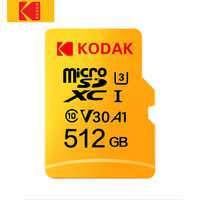Kodak tarjeta Micro SD de Clase 10 de alta velocidad 512GB U3 4K 32GB cartao de memoria de 128 GB, tarjeta de memoria Flash, tarjeta micro sd de 64GB Micro kart
