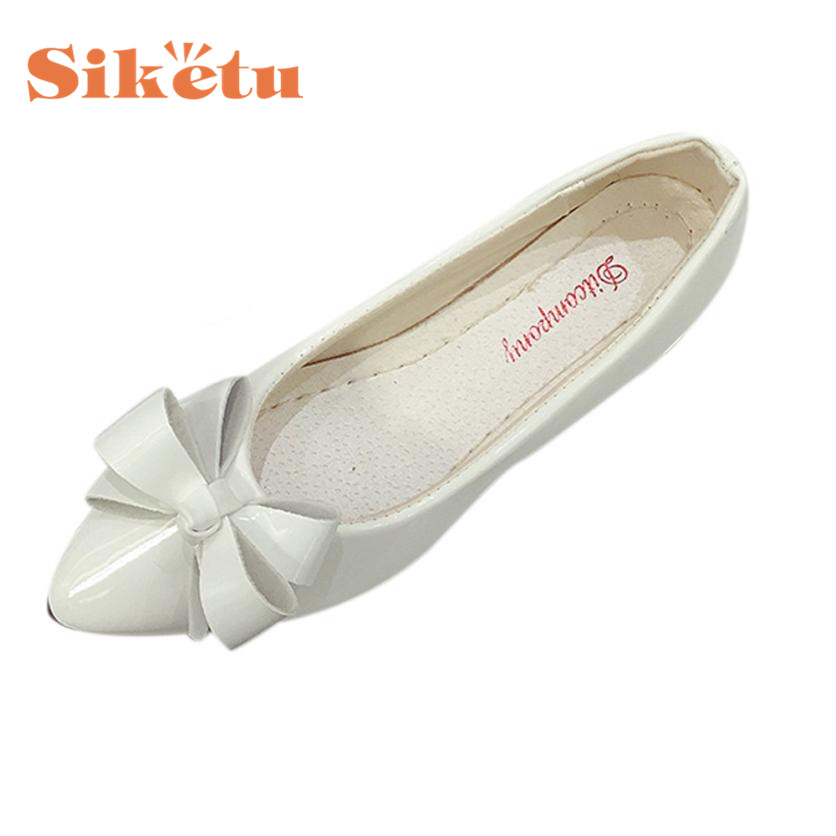 Siketu Elegance New Fashion Bow Pointed Toe Women Flats Woman Flat Shoes Ballet Flats Ladies 17May19 Dropshipping drfargo spring summer ladies shoes ballet flats women flat shoes woman ballerinas pointed toe sapato womens waved edge loafer
