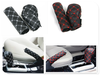 Car interior hand brake shift knob cover gear box 2 pieces / set for BMW E34 F10 F20 E92 E38 E91 E53 E70 X5 M M3 image