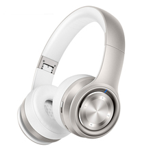 Rose Gold Headphones Wireless Bluetooth 4.0 Headphone Built-in Mic Soft Earmuffs Noise Cancelling Headset Stereo Sound For Phone bluedio original t2 bluetooth wireless foldable headphones built in mic bt4 1 3d sound headset for cell phone xiaomi samsung