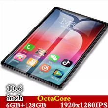 10.6' 4G Phone Call Tablets Android 8.0 OctaCore 6G+128G Tablet Pc Built-in 3G Dual SIM Card laptop WiFi GPS Bluetooth FM tablet