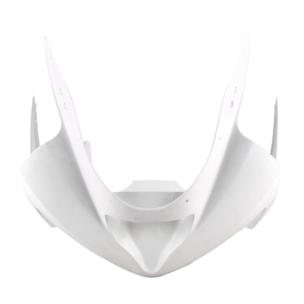 For Kawasaki Ninja ZX6R Upper Front Nose Cowl Fairing 2003 2004 Motorbike Part Accessories Injection Mold ABS Plastic Unpainted motorcycle abs injection fairings for upper front head fairing cowl nose cowl for kawasaki z1000 2010 2013 unpainted