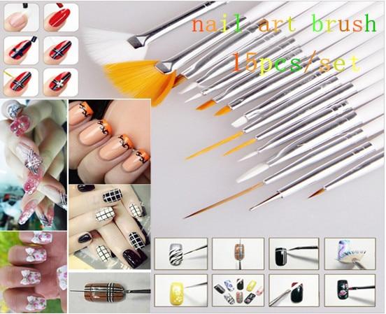 Magic Fashion Style 15pcs Gel Nail Brush Nail Wooden Handle Art