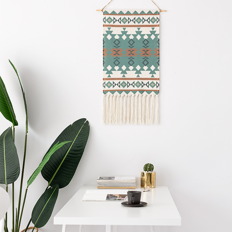 Dremisland Nordic Tapestry Hanging Backdrop Wall Art  Wall Woven Cloth Drawing Macrame Garland Tassel Home Living Room Decor