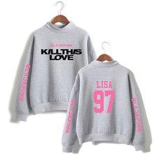 Blackpink Sweatshirt High Neck Blackpink Kpop Sweatshirts Oversized Hoodies Sweatshirt Kill This Love Sweatshirts Ladies