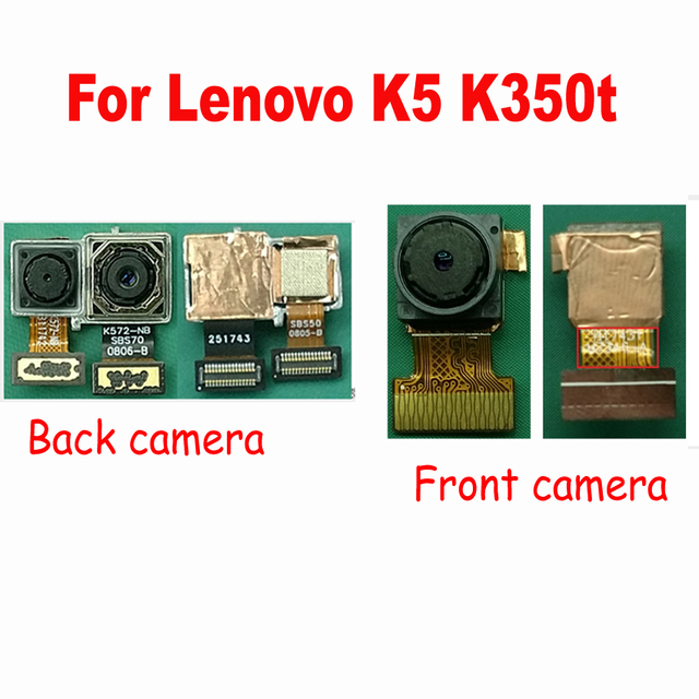 Tested Working Back Rear Camera or front small Flex Cable Module For Lenovo  K5 K350t Phone Parts replacement