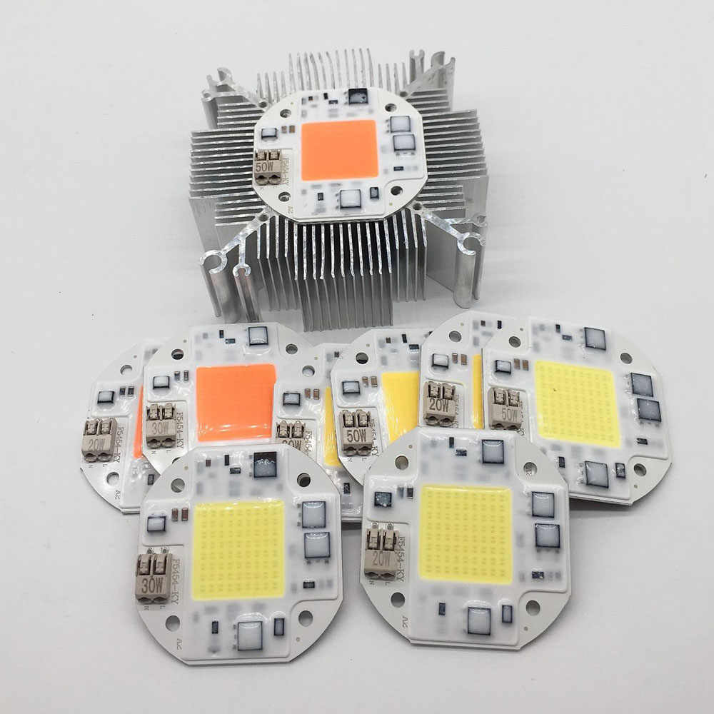 LED phyto lamp 20W 30W 50W Welding Free COB LED Growing Lamps 110V 220V Full spectrum /white/warm white Matrix For Plants Greenh