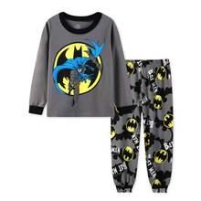 d5650d44c3 Primavera Autunno Bambini Pigiama Neonati maschi Abbigliamento Manica Lunga  Batman Cotone PJS shirts + pants Bambini