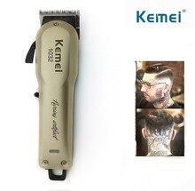 Kemei Powerful Hair Beard Trimmer Professional Electric Hair Clipper Razor Cordless Hair Cutting Machine with Combs Barber