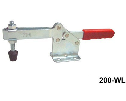 200WL Nonslip Handle U Bar 400Kg 882 Lbs Horizontal Hand Tool Metal Toggle Clamps Clamper Capacity Holding Welding Repairing