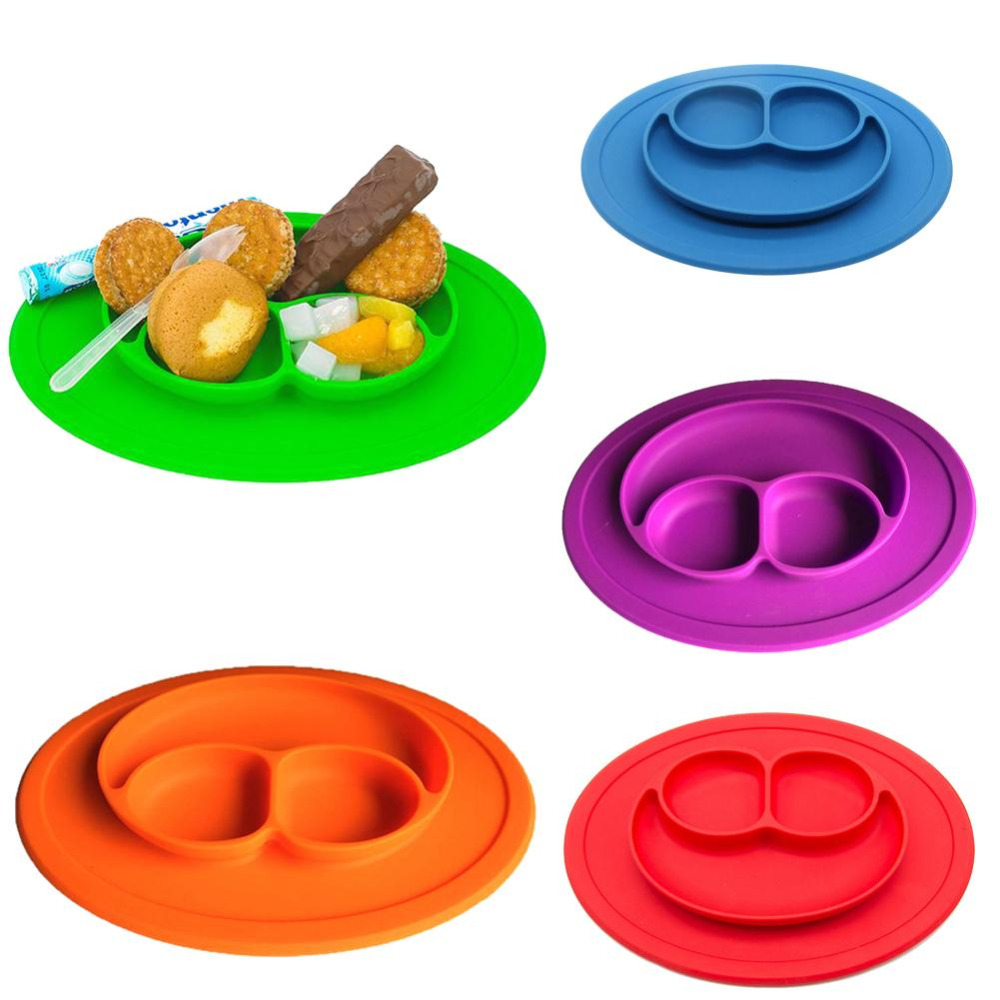 online get cheap suction placemat aliexpresscom  alibaba group - mini size smile  pc baby silicone placemat divided dish bowl plates foodgrade silicone placemats
