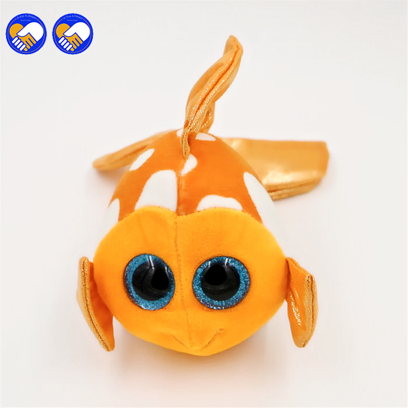 Ty Sami Fish Plush Ty Beanie Boos Big Eyes Small fish Toy Doll Kawaii Stuffed Animals Collection Lovely Children's Gifts L1004