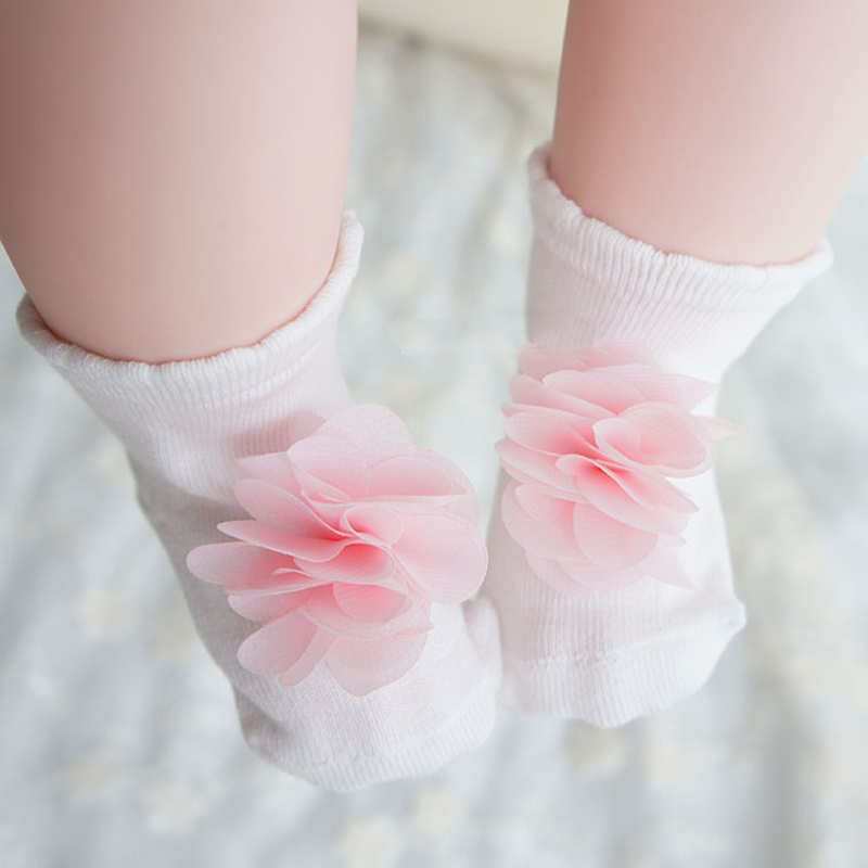 0-2T Baby Socks 3D Lace Flower Infant Socks Girls Newborn Sock Princess Birthday Gifts Baby Girls Fashion Flower Girl Dresses ...