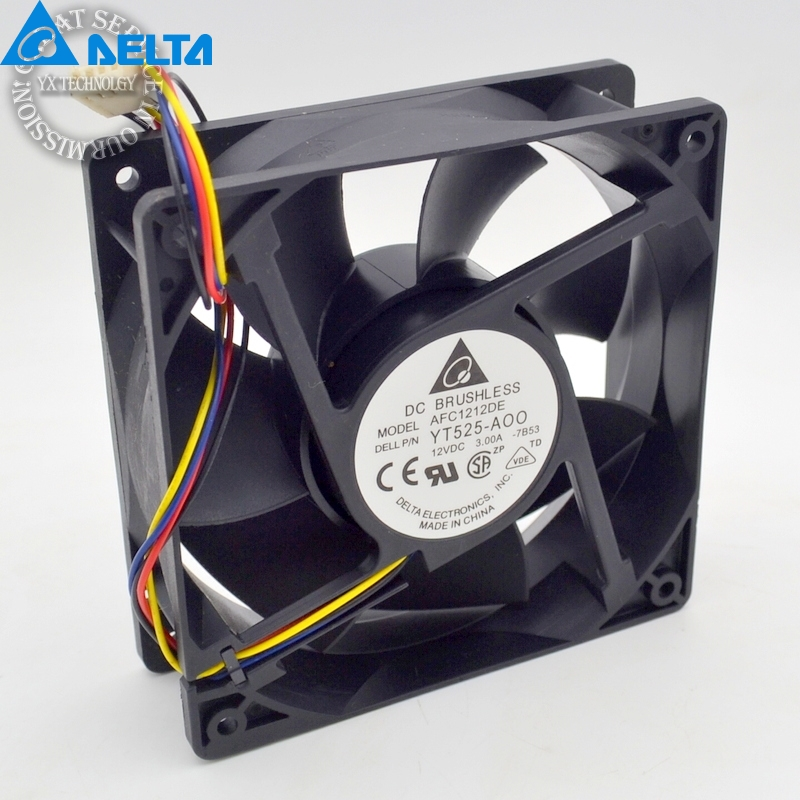 Delta New AFC1212DE 12CM 3A large air volume support PWM 4 wire PWM fan for Delta 120 *120 *38mm original delta 9050 9cm air volume fan 12v 1 56a gfb0912shg double leaf fan