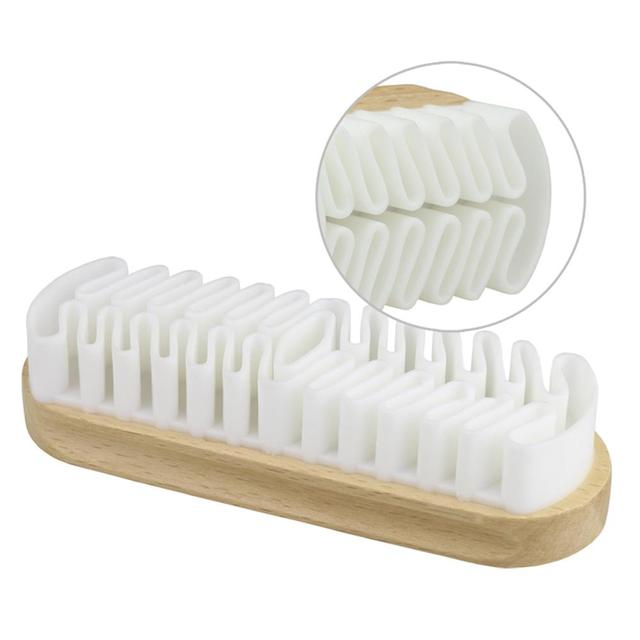Spazzola in pelle Per Stivali di Camoscio Borse Scrubber Cleaner Bianco di Gomma