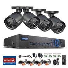 Sistema de CCTV 8CH DVR 960 H 4 UNIDS SANNCE 800TVL IR Resistente A la Intemperie Al Aire Libre Cámara de Seguridad Para el Hogar Sistema de Vigilancia Kits de Correo Electrónico alerta