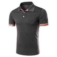 New trend leisure males's Polo Shirt POLO huwena stitching