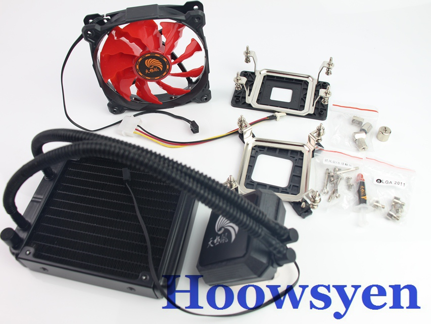 Cpu water cooling radiator set desktop computer one water-cooled cpu coolant fan ice source computer water cooling cpu radiator fan desktop integrated cpu water cooled radiator mute set