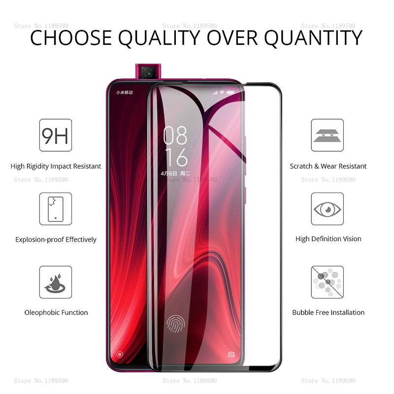 GerTong Full Cover Tempered Glass For Xiaomi Mi A1 A2 Lite Mi 9t 9 SE A3 Mi 8 Mi9 t Redmi 7 7A Note 7 Pro Screen Protector Film