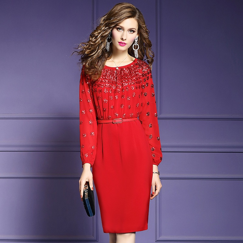 Office Lady Package hip dress Spring 2019 new Women flowers Pencil Party Dress Plus Size Long
