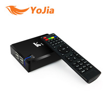 [Genuine] 10pcs K1 S2 Amlogic S805 Android 4.4 TV Box + Satellite Receiver DVB-S2 Cccam Newcam KI KODI ADD-ONS Pre-installed
