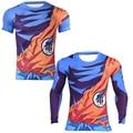 Dragon Ball Z Camiseta Transpirable Ropa Dragonball Super Saiyan Goku Camiseta 3D Tops de Moda de Fitness Apretado Tes de Las Tapas