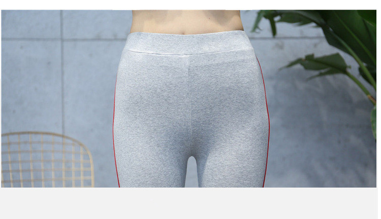 High Quality Cotton Leggings Side stripes Women Casual Legging Pant Plus Size 5XL High Waist Fitness Leggings Plump Female 29