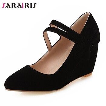 44a32b86b SARAIRIS/Новое поступление; вечерние свадебные туфли-лодочки на ...