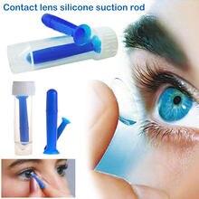 Inserção Da Lente de Silicone Azul Remover Prático Acessórios Óculos  Mulheres Lentes de Contato Lentes de Contato Ferramenta Por. 190775c7e8