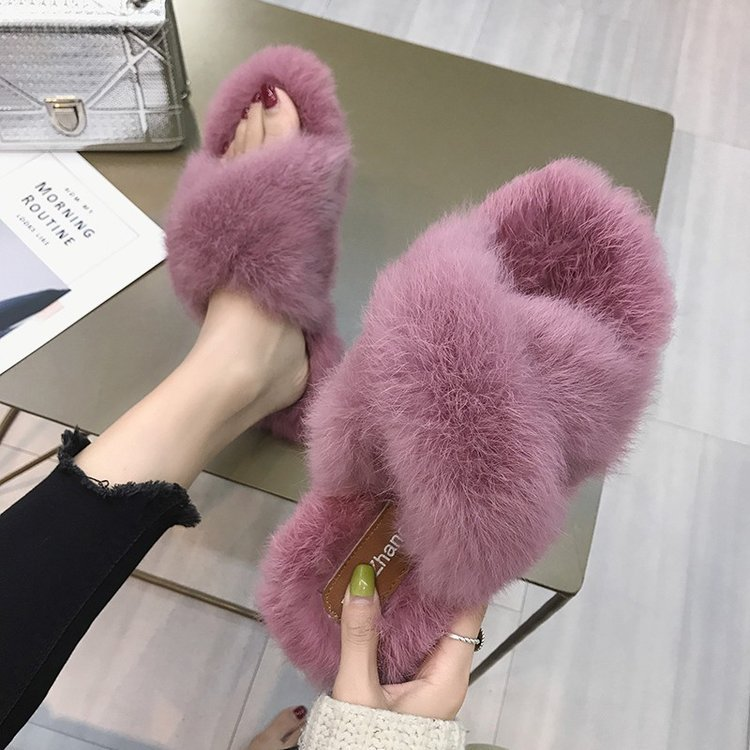 9384P autumn winters cross plush shoes to keep warm shoes women wear joker flat9384P autumn winters cross plush shoes to keep warm shoes women wear joker flat