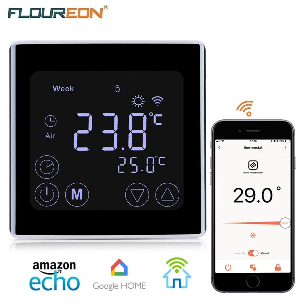 FLOUREON WIFI Thermostat Regulator App Control Programmable Floor Heating Wireless Temperature Controller For Smart Home
